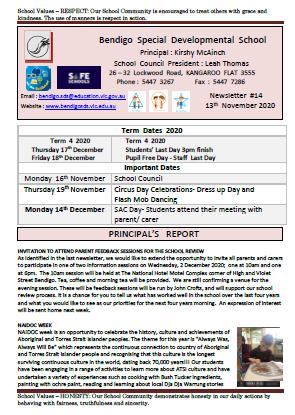 Newsletter 16-11-2020